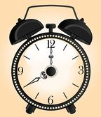 Background with classic alarm clocks — Stock Vector