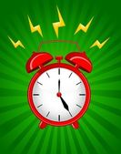 Background with classic alarm clocks — Vector de stock