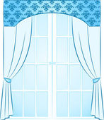 The vintage arch with curtain. — ストックベクタ