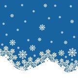 Snowflake winter background. — Stock Vector