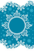 Snowflake winter background. — Stock Vector