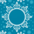 Snowflake winter background. - Stock Photo