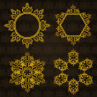 Snowflake winter background. — Stock Photo #7608867
