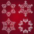 Snowflake winter background. — Stock Photo #7608882