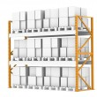 Stock Photo: Pallet Rack, Full. Isolated on white. Part of warehouse series.