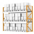 Stockfoto: Pallet Rack, Full. Isolated on white. Part of warehouse series.