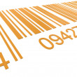 Stock Photo: Bar Code. Closeup of a Bar Code in Orange