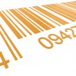 Bar Code. Closeup of a Bar Code in Orange - Stock Photo