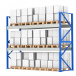 Warehouse Shelves. Pallet Rack, Full. Isolated on white. Part of Blue War — Stok Fotoğraf #7194718