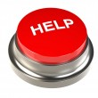 Button for Help — Stock Photo