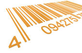 Bar Code. Closeup of a Bar Code in Orange — Stock Photo