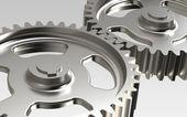 Gears. Metal — Stock Photo