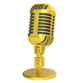 Gold Microphone — Stock Photo