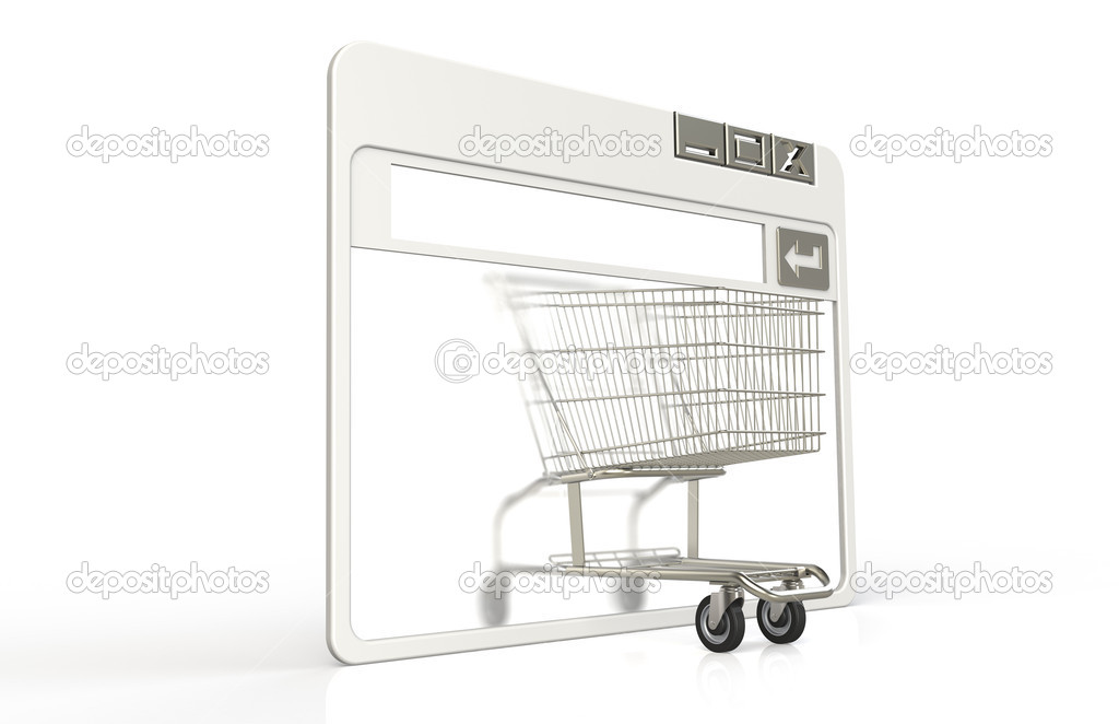 Internet browser window with Shopping Cart — Stock Photo #7194346
