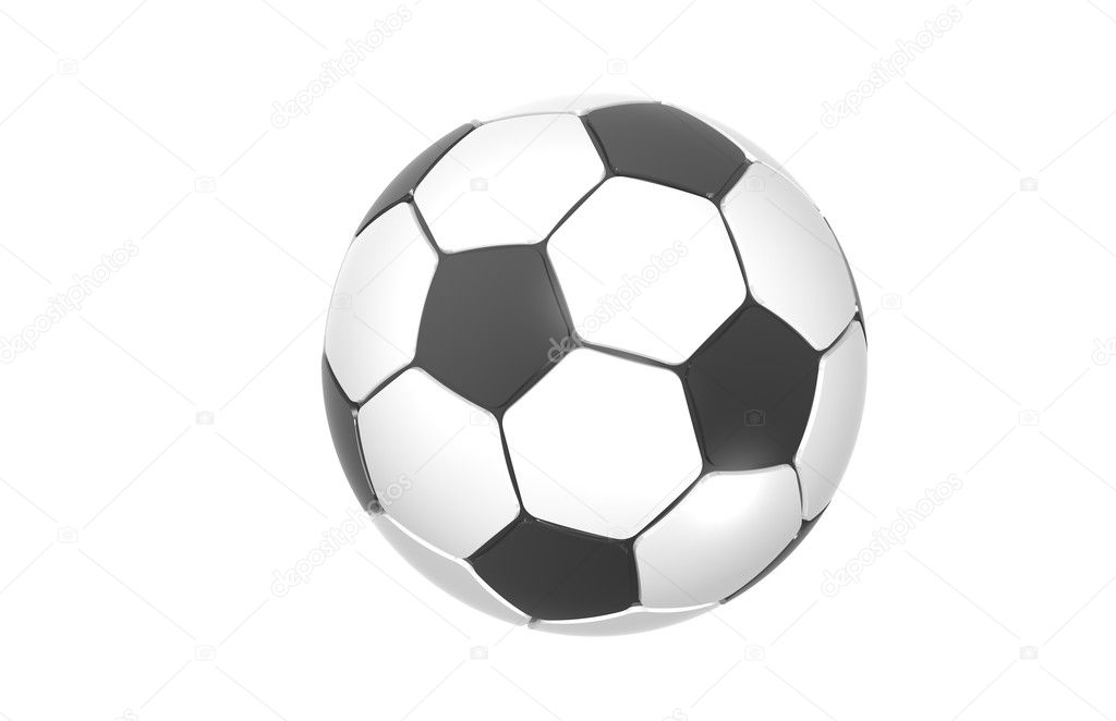 Football, Soccer ball. Black and white isolated on white — Stock Photo #7194356