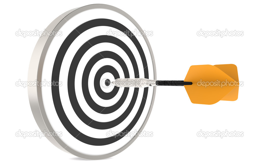 Dart hitting the target   — Stock Photo #7194565