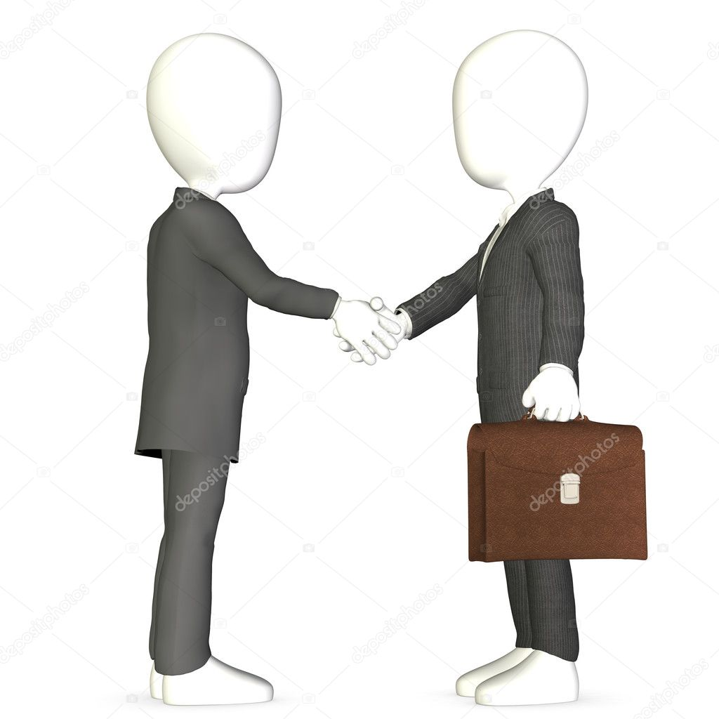 Abstract business men shaking hands.   — Stock Photo #7194578