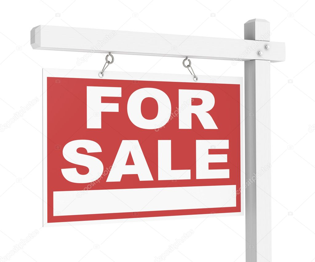 A For Sale Real Estate Sign of Wood. — Stock Photo #7194882