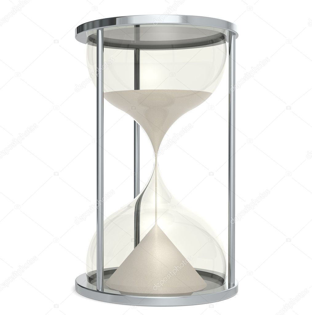Hourglass made of Metal. Sand — Stock Photo #7195089