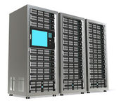 Server Rack X3 — Stock Photo