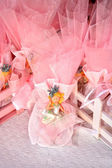 Christening candy favors — Stock Photo