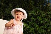 Kid on a garden — Stock Photo