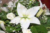 White flower on a wedding decoration indoor — Stock Photo