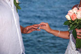 Bride and groom wedding — Foto Stock