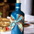 Bottle with oil orthodox christening — Stock fotografie #7591735