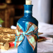 Bottle with oil orthodox christening — 图库照片 #7591735