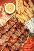 豚肉の串焼き — ストック写真