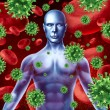 Human disease and infection - Foto Stock