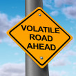 Volatile road ahead - Stock Photo