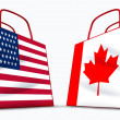 U.S.A. and Canada trade — Stock Photo