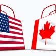 U.S.A. and Canada trade — Stock Photo #7269494