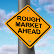 Rough market ahead - Stock Photo
