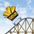 Rising gold prices - Stock Photo