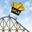 Lower Gold prices - Stock Photo