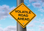 Volatile road ahead — Stock Photo