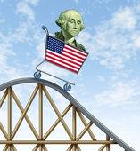 Economic rollercoaster ride — Stock Photo