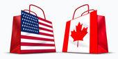 U.S.A. and Canada trade — Stock Photo