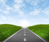 Road with sky — Stock Photo