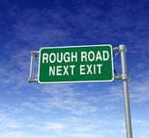 Rough road — Stock Photo