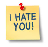 I hate you — Stock Photo
