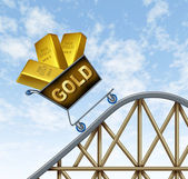 Rising gold prices — Stock Photo