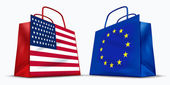 America and the European Union trade — Stock Photo