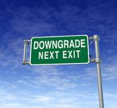 Company downgrade — Stock Photo