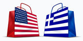 America and Greece trade — Stock Photo