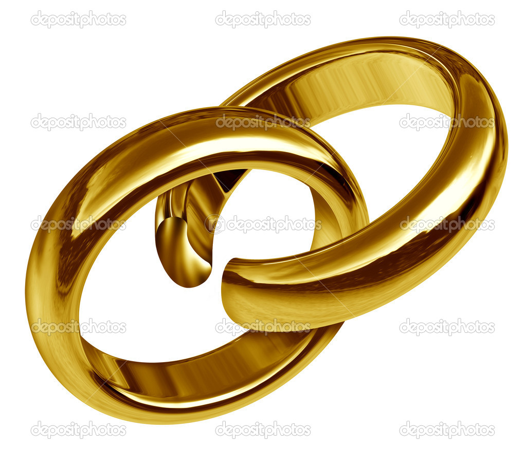 Divorce and separation symbol represented by two linked gold rings that has a break in the union showing the sad result of a broken relationship and break up du — Stock Photo #7269619