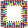 Frame made of pencils — Stock Photo